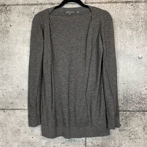 VINCE // Grey Sweater with Shoulder Pleating